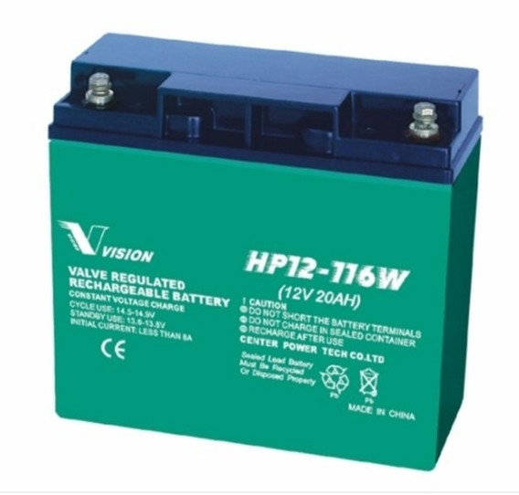Bateria Vision Hp12 116w (incluye Mercado Envio) Yb16clb Jet Sky Moto De Agua Generadores 12v20a