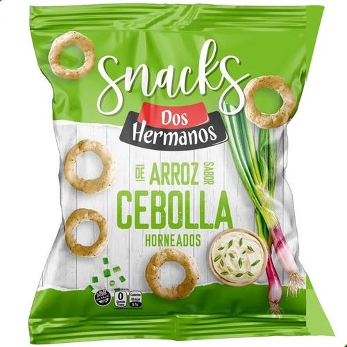 Snacks Aros Cebolla De Arroz Horneados Dos Hermanos Sin Tacc