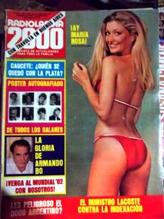 Radiolandia 2000.oct.1981.maria Rosa Loiácono.poster Galanes