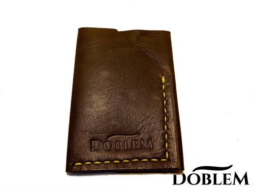 Imagen 1 de 6 de Billetera De Cuero Doblem Mod.: 1979sh