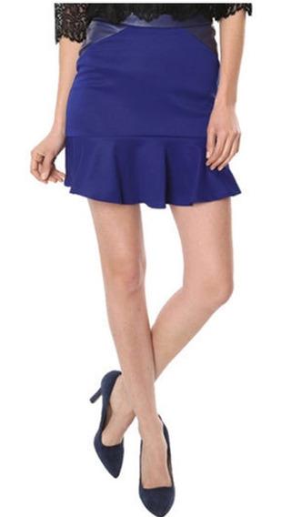 Mini Falda Brunna Sexy Elegante Azul Coctel Fiesta C365