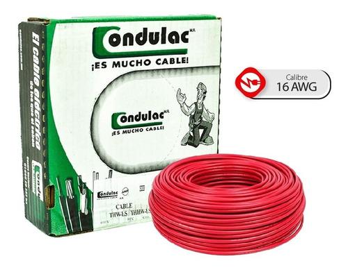 Caja 100 Mts Cable Blanco Thw Cal 16 Aw  100%cobre Condulac