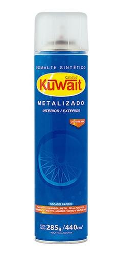 Imagen 1 de 7 de Pintura Aerosol Grafito Llanta Kuwait Metalizados 440cm3 Mm