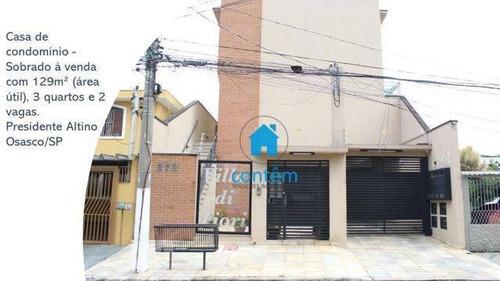 Ca0475 - Casa Com 3 Dormitórios À Venda, 90 M² Por R$ 630.000 - Presidente Altino - Osasco/sp - Ca0475