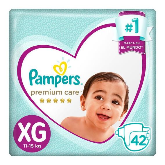 Pampers Premium Care Pañales Desechables Xg 42 Unidades