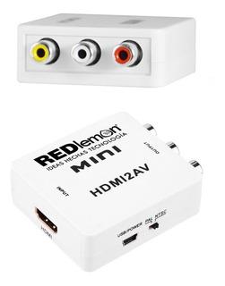 Redlemon Adaptador Y Convertidor De Hdmi A Rca Audio Video