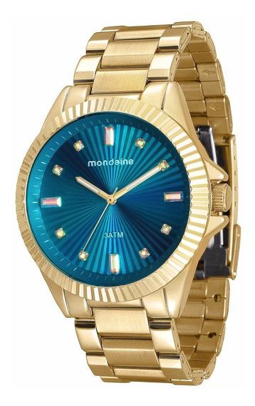 Relógio Mondaine Feminino Glamour 76613lpmvde2 Gold