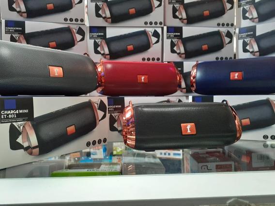 Caixa De Som Bluetooh Charge Mini Et 801