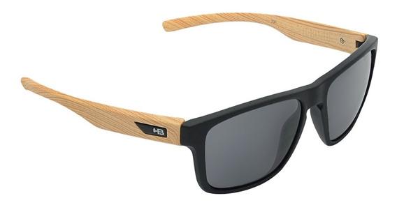 Óculos Masculino Hb H-bomb Matte Black Wood