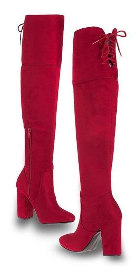 Bota De Vestir Yaeli Fashion 8017 Id828685 Rojo Dama