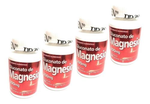 Gluconato De Magnesio 90 Tab Pronacen 200mg (4 Pz)enviofull