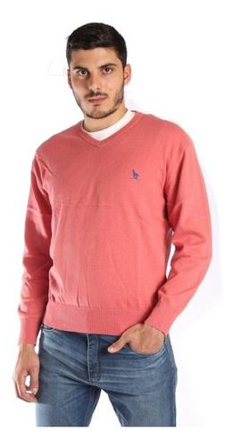 Sweater En V Hombre Salmon -  Tienda Ecuestre