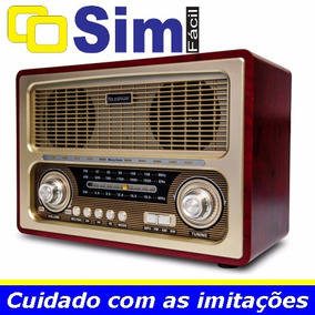 Radio Antigo Multifuncional Portatil Retro Am Fm Sw Usb Car