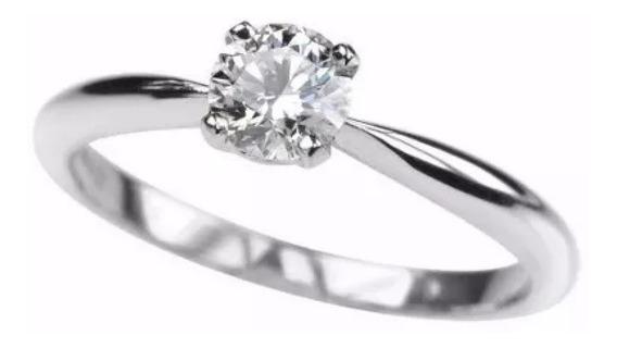 Anillo Compromiso Oro 14k Diamante Natural .20ct -50%
