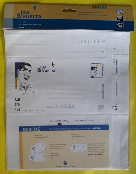Argentina 1999 Sobre Carta Ida & Vuelta Carlos Gardel