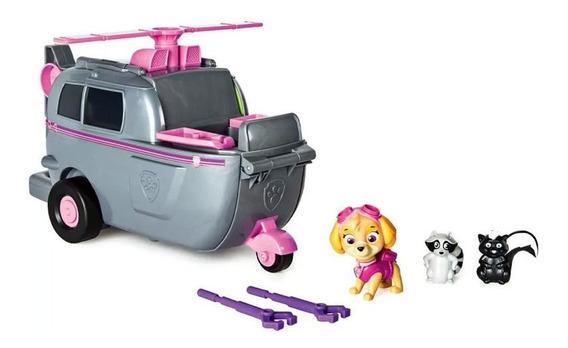 Playset 2 Em 1 - Patrulha Canina - Transforma Em Helicóptero
