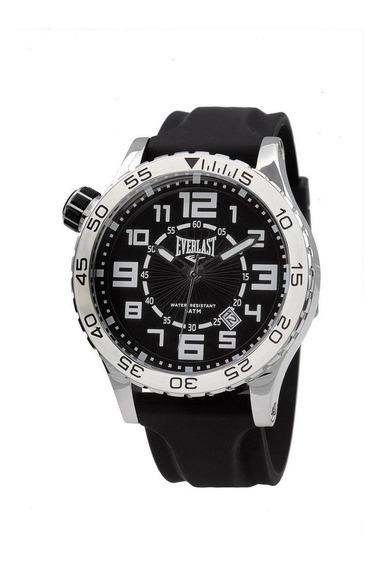 Relógio Pulso Everlast Masculino Calendário Preto E533