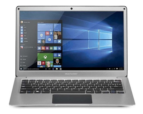 "Notebook - Multilaser Pc222 Celeron N3350 1.10ghz 4gb 64gb Híbrido Intel Hd Graphics 500 Windows 10 Home Legacy 13,3"" Polegadas"