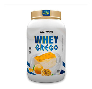 Whey Grego 900g - Nutrata - Wpc + Wph - 7 Sabores