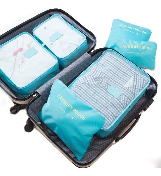 Kit 6 Organizadores De Ropa Packing Cubes Viaje Valija