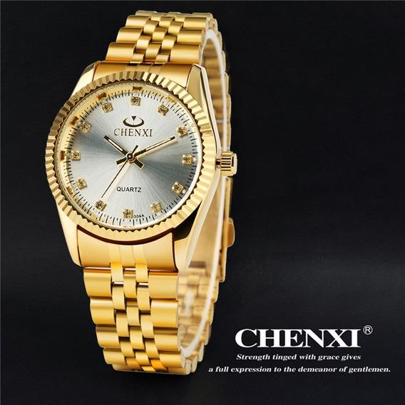 Relógio Chenxi Mod Cx004g-analogico- Dourado - Prateado