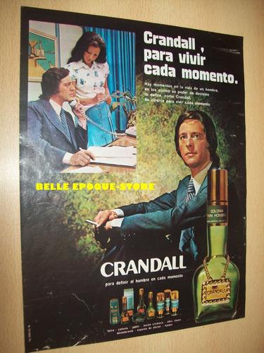 Clipping Antigua Publicidad Perfume Colonia Crandall