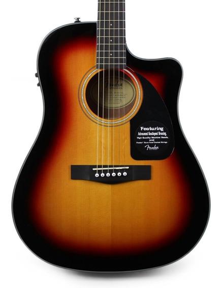 Guitarra Electroacustica Fender Cd60 + Estuche