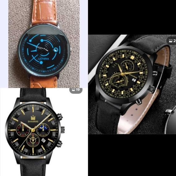 Kit 3 Relógios Masculino,