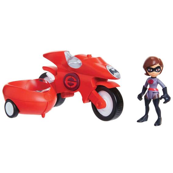 Veículo Com Mini Figura - 7 Cm - Disney - Pixar - Os Incríve
