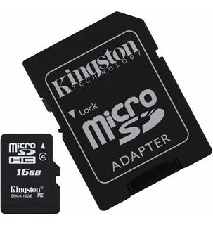 Memoria Micro Sd Hc 16gb Kingston Clase 10 Para Celular