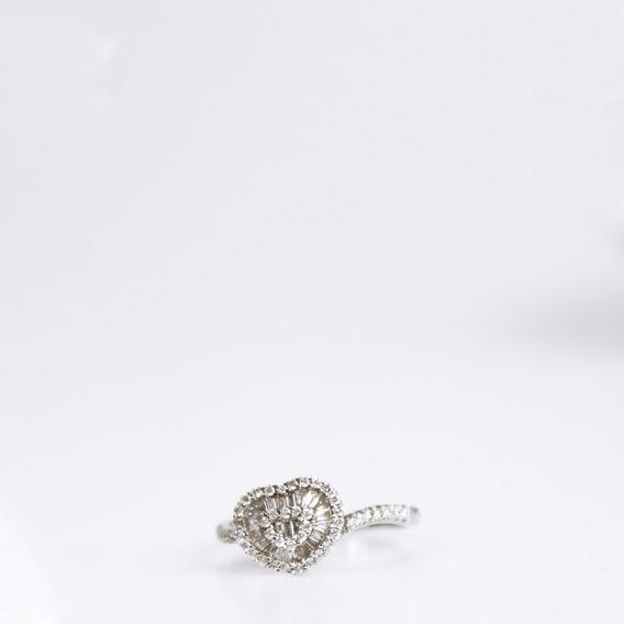 Anel Diamantes Coração Achados Pretty New