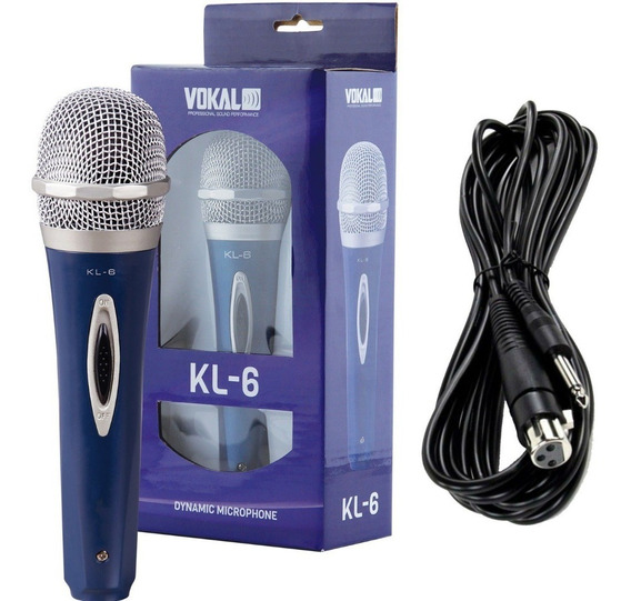 Microfone Dinâmico Pro Vokal Kl6 Acompanha Cabo