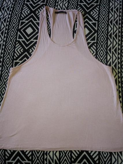 Remera Musculosa Rosa Nude Marca Desiderata Talle 2
