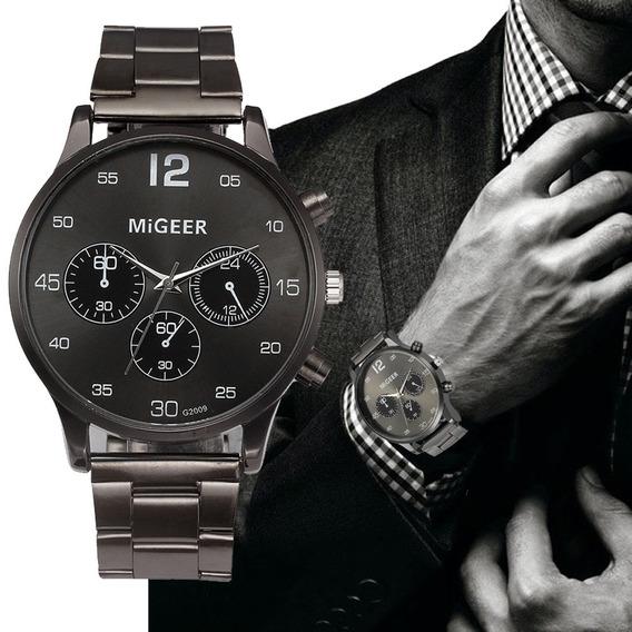 Relógio Masculino De Aço De Cristal Marca De Luxo