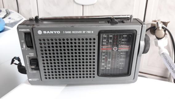 Rádio Portátil Usado Sanyo Modelo Rp7160n 3 Faixas Funcionan