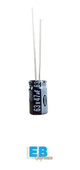 X 10 Un. Capacitor Electrolitico 47uf X 63v 105° 8x12
