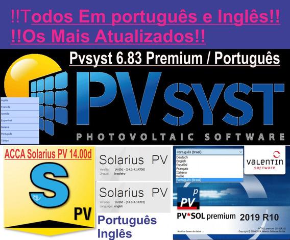 Pvsol Premi 2019 R10+ Solarius Pv.14.00d+ Pvsyst 6.83 Premium