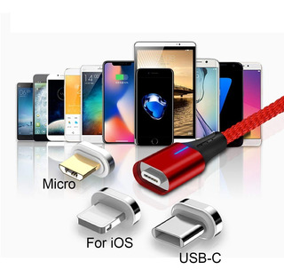 Cable De Carga Magnético, 3in1 Micro Usb Android Type-c