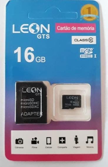 Cartão De Memoria 16gb Original Classe 10 Micro Sd Leon