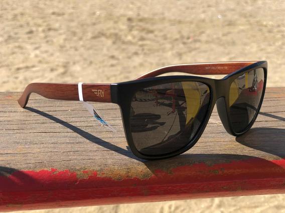 Óculos De Sol Fly Eyewear Original Amadeirado Uv400