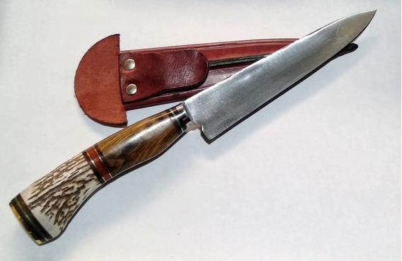 Cuchillo Artesanal De Tandil 16 Cm Con Vaina De Regalo