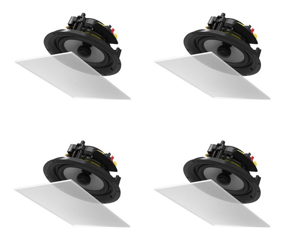 Arandela Bsa S5 Quadrada Embutir 4-peças