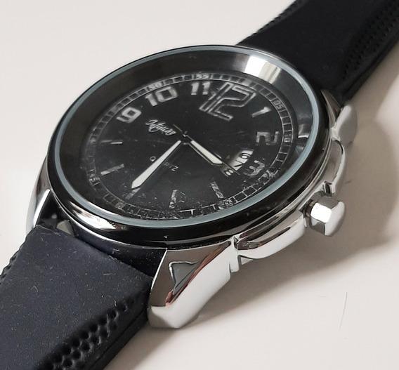 Relógio De Pulso Masculino Com Pulseira Em Silicone
