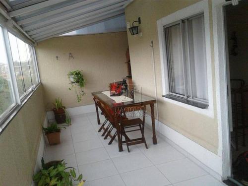 Apartamento Duplex À Venda, 104 M² Por R$ 255.000,00 - Vila Lutécia - Santo André/sp - Ad0025