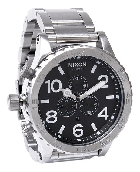 Relógio Nixon 5130 Chrono Prata Fundo Preto - Nixon Promoção