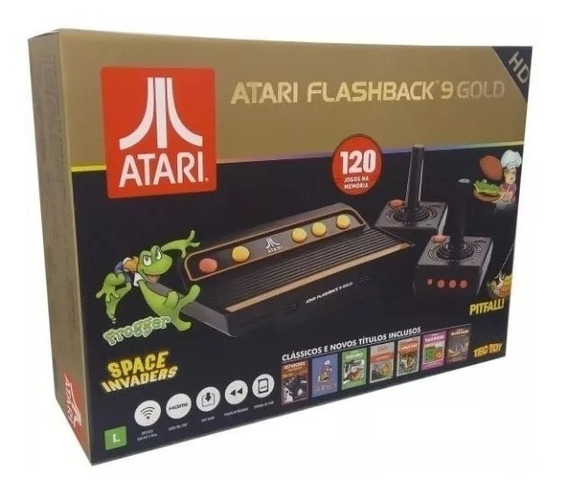 Atari Flashback 9 Gold Deluxe Com 120 Jogos + Nfe
