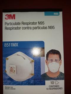 Respirador Con Filtro N95 8511 3m Niosh Caja Con 10 Pz