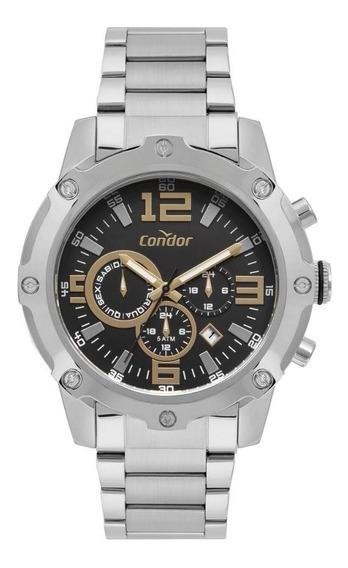 Relógio Masculino Condor Cojp25ae/3p 50mm Aço Prata