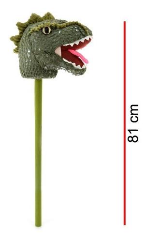 Imagen 1 de 5 de Dinosaurio Con Palo Caballito De Peluche 7965 Educando