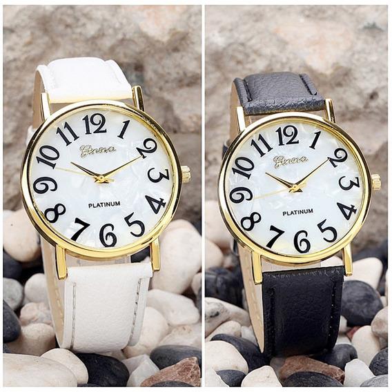 Relógio De Luxo Feminino Quartz Platinum Promoção